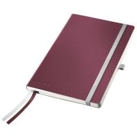 Caiet de birou A5, LEITZ Style, coperti flexibile - grena, hartie crem - dictando