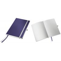 Caiet de birou A5, LEITZ Style, coperti flexibile - albastru titan, hartie crem - dictando