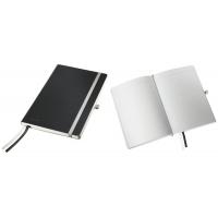 Caiet de birou A5, LEITZ Style, coperti flexibile - negru satin, hartie crem - dictando
