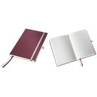 Caiet de birou A5, LEITZ Style, coperti flexibile - grena, hartie crem - matematica