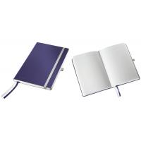 Caiet de birou A5, LEITZ Style, coperti flexibile - albastru titan, hartie crem - matematica
