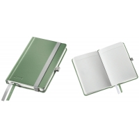 Caiet de birou A6, LEITZ Style, coperti carton rigid - fistic, hartie crem - matematica