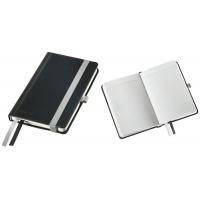 Caiet de birou A6, LEITZ Style, coperti carton rigid - negru satin, hartie crem - matematica