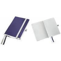 Caiet de birou A6, LEITZ Style, coperti flexibile - albastru titan, hartie crem - dictando