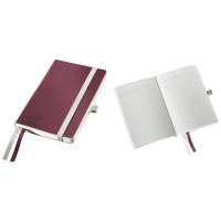 Caiet de birou A6, LEITZ Style, coperti flexibile - grena, hartie crem - matematica