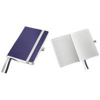 Caiet de birou A6, LEITZ Style, coperti flexibile - albastru titan, hartie crem - matematica
