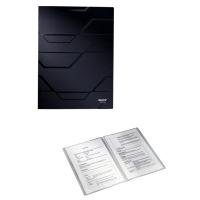 Dosar plastic de prezentare cu 20 de folii, LEITZ Prestige - negru
