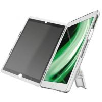 Multi-carcasa LEITZ Complete, cu stativ si capac cu filtru Privacy landscape pentru iPad Air - alb