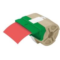 Cartus inteligent cu etichete de plastic LEITZ Icon, 88mmx10m , plastic rosu, adeziv permanent