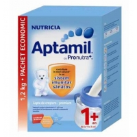 Lapte Praf Aptamil Junior 1+ cu Prontura+ de Crestere de la 1 An, 1200 g