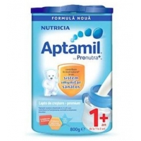 Lapte Praf Aptamil Junior 1+ cu Prontura+ de Crestere de la 1 An, 800 g
