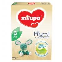 Lapte Praf Milupa Milumil 3 Partial Fermentat, de la 9 luni, 600 g