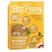 Pate Pentru Caini Little BigPaw, Curcan Si Legume, 150G
