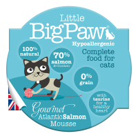 Pate Pentru Pisici Little BigPaw Cu Somon Atlantic, 85G