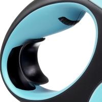 Lesa Retractabila Flexi New Classic Banda M, 5 M, 25 kg, Albastru
