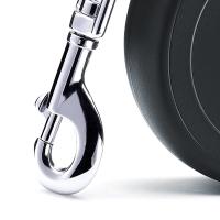 Lesa Retractabila Flexi New Classic Banda M, 5 M, 25 kg, Negru
