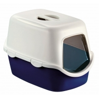 Litiera Acoperita Kerbl Cathy Box Blue, 56x40x40 Cm