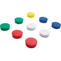 Magneti D25 mm, 10/set, SMIT - rosu