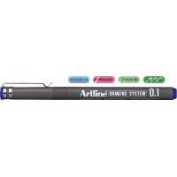 Marker pentru desen tehnic, 0.1mm, ARTLINE - albastru