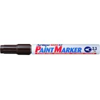 Marker cu vopsea varf rotund 2.3mm, corp metalic, ARTLINE 400XF - maro