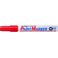 Marker cu vopsea varf rotund 2.3mm, corp metalic, ARTLINE 400XF - rosu
