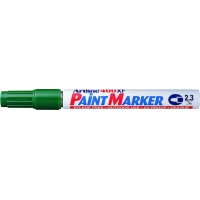 Marker cu vopsea varf rotund 2.3mm, corp metalic, ARTLINE 400XF - verde