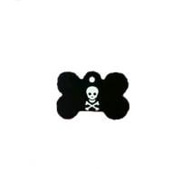 Medalion Os cu Gravare Gratuita, Negru Aluminiu, Model Pirat, Masura L