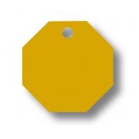 Medalion Aluminiu cu Gravare Gratuita, Hexagon Auriu - masura L