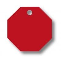 Medalion Aluminiu cu Gravare Gratuita, Hexagon Rosu - masura S