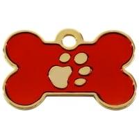 Medalion Os cu Labute Rosu Large
