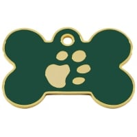 Medalion Os cu Gravare Gratuita, cu Labute Verde Small