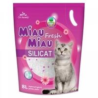 Pachet 4 Buc x Asternut Igienic Miau Miau Fresh Silicat 8 Litri