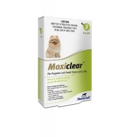 Moxiclear Caine Spot-On S 0.4 ml 0-4 kg 3 pipete