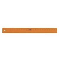 Rigla din plastic colorat, 30cm, M+R - portocaliu