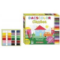 Creioane cerate semi-soft, cutie carton, 24 x 12 culori/cutie, ALPINO DacsColor Economy pack