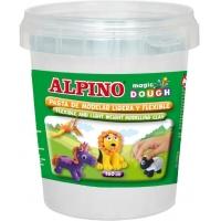 Plastelina magica, 160 grame/cutie, ALPINO - alba