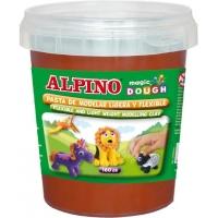 Plastelina magica, 160 grame/cutie, ALPINO - maron