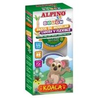 Kit 6 culori plastelina magica, ALPINO Koala