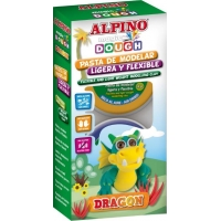 Kit 4 culori plastelina magica, ALPINO Dragon