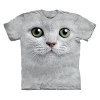 Tricou Barbatesc The Mountain Green Eyes Face Cat