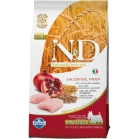 N&D Low Grain Adult Mini Pui si Rodie, 2.5 kg