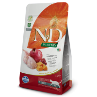 N&D Cat Adult, Dovleac si Prepelita, 1.5 kg
