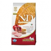N&D Low Grain Adult Mini Pui si Rodie, 7 kg