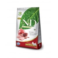 N&D Grain Free Adult Mini Pui si Rodii, 7 kg