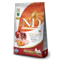 N&D Grain Free Adult Mini Pui, Rodie si Dovleac, 7 kg