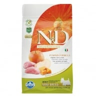 N&D Grain Free Mini Adult Mistret, Mar si Dovleac, 7 kg