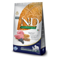 N&D Ancestral Grain Dog Adult Med&Maxi cu Miel si Afine, 2.5 kg