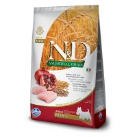 Pachet 2 x N&D Ancestral Grain Dog Adult Mini cu Pui, Ovaz si Rodie, 7 kg