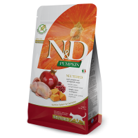 N&D Cat Adult Neutered, Prepelita si Dovleac, 1.5 kg