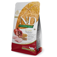 N&D Cat Grain Free Neutered Pui si Rodie, 10 kg